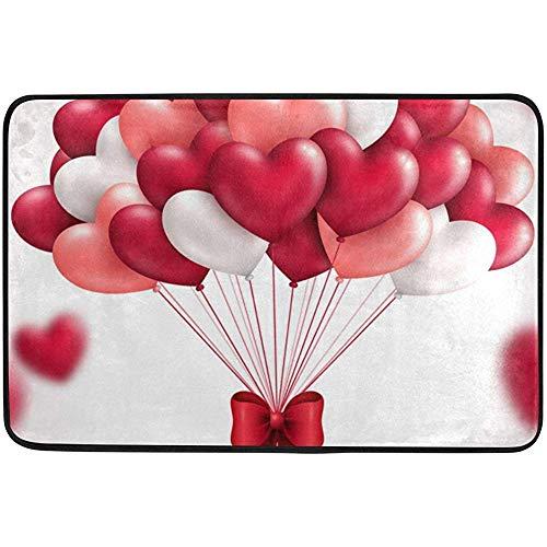 AoLismini Herz Luftballons Fußmatten Bereich Teppich Eingang Vordertür Matte Küche rutschfeste Bad Teppich für den Innenbereich im Freien