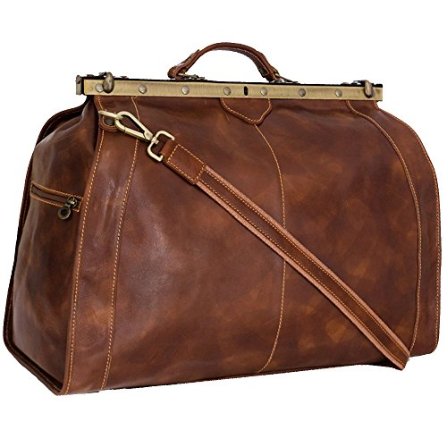 Weekender Reisetasche XL Wochenendtrip Handgepäck Freizeittasche aus echtem Leder Damen Herren Qualität Vintage Design, Braun