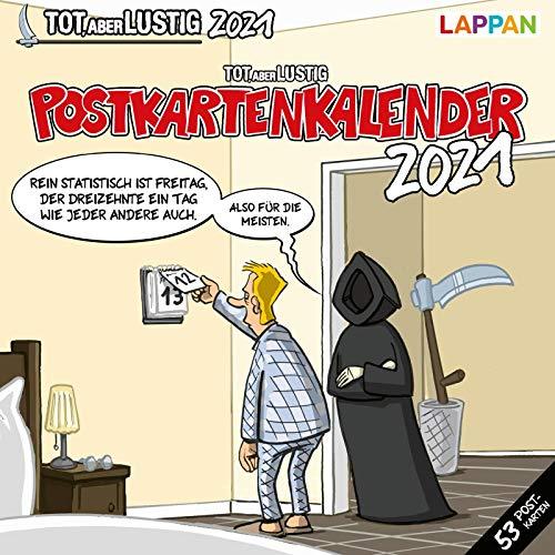 Tot, aber lustig! Postkartenkalender 2021