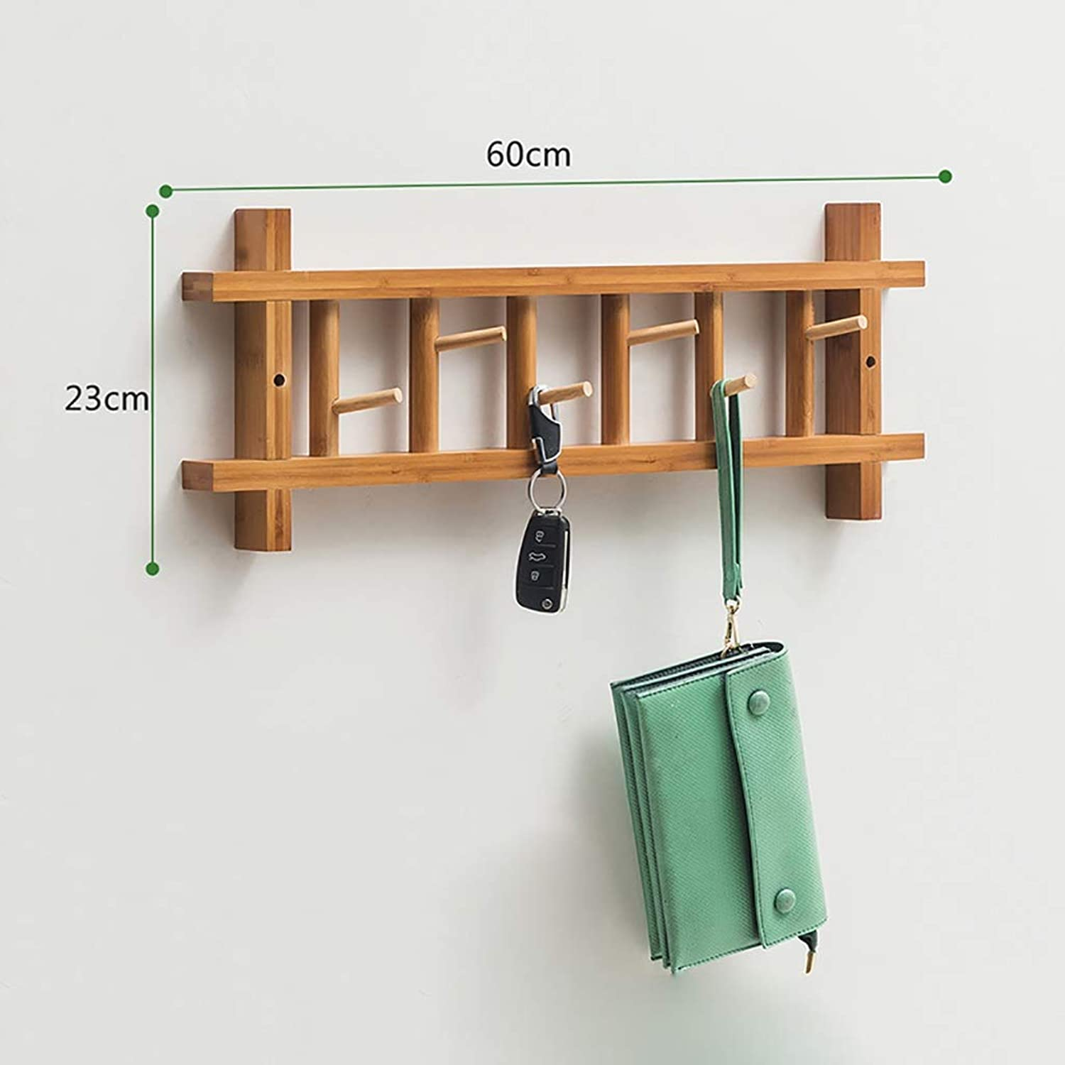 Standing Coat Racks Hanger Bamboo Hanger Wall Hanger Hanger shoes Rack 360° redatable Hook Coat Rack (Available in Three colors) (color   B, Size   60cm)