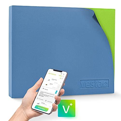 Vesta+ Balance Pad XXL + Fitness APP, Balance Kissen Physio-Therapie, Dein Balancekissen groß als Gleichgewichtstrainer, Der Testsieger unter Balance Pads für das Plus in Deinem Workout.