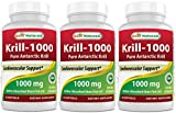 Best Naturals Krill Oil 1000 mg 30 Softgels (Pack of 3)