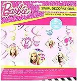 amscan Foil Swirl Decorations | Barbie Sparkle Collection | Party Accessory,Multi Color,7', 5'