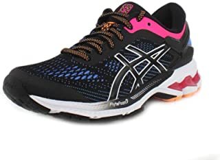 ASICS Women's Gel-Kayano 26 Running Shoes, 8M, Black/Blue Coast
