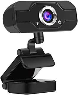 no logo MiMoo HD 1080P Computer Webcam, USB Built-in Sound-Absorbing Microphone & Manual Focus High-end Video Call Camera ...