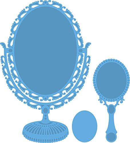 Marianne Design Creatables Troqueles con diseño Vintage Espejo, Metal, Azul, 16,2 x 11,4 x 0,5 cm