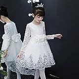 SUNXC Niña Princesa Vestido Disfraz, Vestido de Cola de Temperamento-B_150 cm,Vestido de Princesa Fiesta de Vestir Disfraces