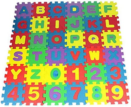 Printasaurus 36Pcs Number Alphabet Puzzle Foam Maths Educational Toy Gift Home Garden Home Decor product image
