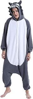 Adult Wolf Halloween Costume Onesies Pajamas Animal Cosplay for Men Women