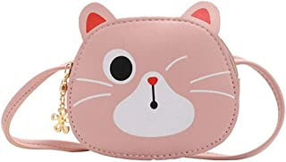 Fanspack Kid Shoulder Bag Purse Creative Cute Cat Crossbody Purse Change Purse Coin Purse