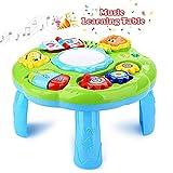 STOTOY Musikalischer Lerntisch Babyspielzeug, Babyaktivitätstisch, Babyspielzentrum, pädagogisches Babysoundspielzeug für Babys und Kleinkinder ab 18 Monaten