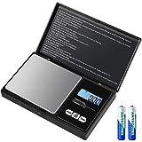 Báscula Digitales de Precisión,[500g/0.01g] Diyife Escala de Bolsillo de Precisión, Báscula de Joyería, Escala de Cusine con Pantalla LCD y Función de Tara(Baterías Incluidas)