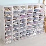 Scatola per scarpe impilabile in plastica trasparente con porta trasparente (20 pezzi)