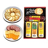 WISCONSIN'S BEST and WISCONSIN CHEESE COMPANY 100% Wisconsin Cheddar Cheese and Pepper Jack Cheese, Summer Sausage, Cheese and Cracker. Best Food Gift to Send, Birthday Gift, Thank you, Valentine Gifts. Amazon Prime