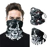 EOOIO Neck Gaiter Face Mask for Men Women, Reusable Bandana Balaclava Headwear for Fishing Hiking Running