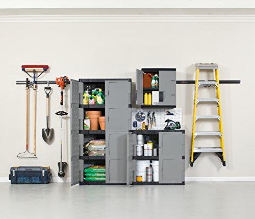 Rubbermaid Storage 72 Inch, Four-Shelf, 2 Door cabinet, Resin Locking Storage Cabinet