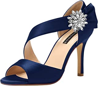 09687975234e5 Amazon.com: navy blue wedding shoes - Women: Clothing, Shoes & Jewelry