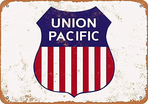 Tarfy Union Pacific Railroad - Placa Decorativa para Pared,