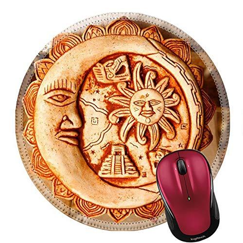 Runder Mauspad Naturkautschuk Mousepad Mexikanische Dekoration Teller In Einem Maya Souvenir Shop Foto 20Cm