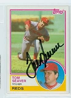 Tom Seaver AUTOGRAPH 1983 Topps #580 Cincinnati Reds