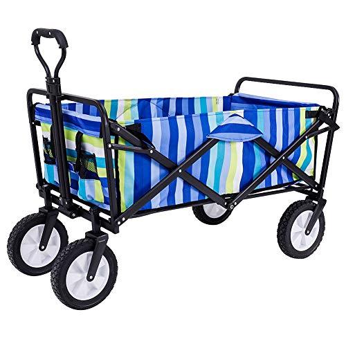 olyee Outdoor Wagon Cart, Heavy Duty Garden Tool Folding Utility Wagon...