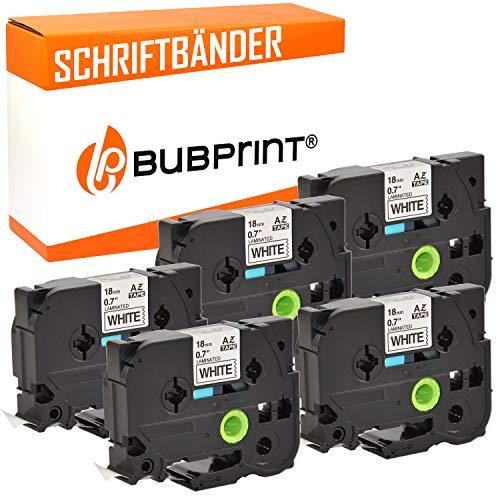 Bubprint 5 Schriftbänder kompatibel für brother TZE-241 TZE 241 für P-Touch 1000 1750 1800 1850 1950 210E 220 2400 2430pc 2450dx 2460 2470 2480 18mm