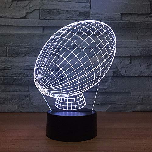 Nachtlichter 7 Bunte 3D Visuelle Led Rugby Nachtlicht Für Kinder Usb American Football Modellierung Schreibtischlampe Baby Schlaf Leuchte Decor