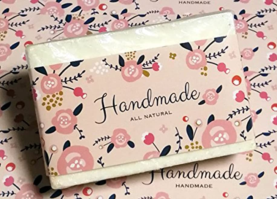 ZZYBIA Wrap Paper Tape for Homemade Soap Bar Handmade Products 20pcs (Horizontal - Peachpuff)