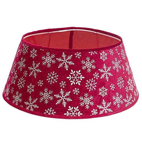 New Traditions - Christmas Tree Collar (Velvet Tree Collar - Red/Snowflake)