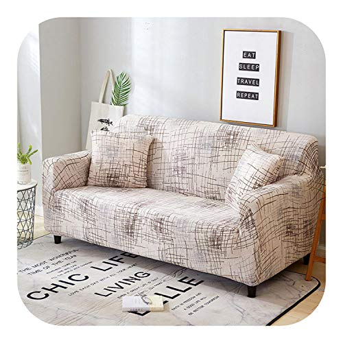 Lanng Elastic Spandex Sofa Cover Tight Wrap All-Inclusive Couch Covers for Living Room Sectional Sofa Cover Love Seat Patio Furniture-Color 5-3-seater 190-230cm