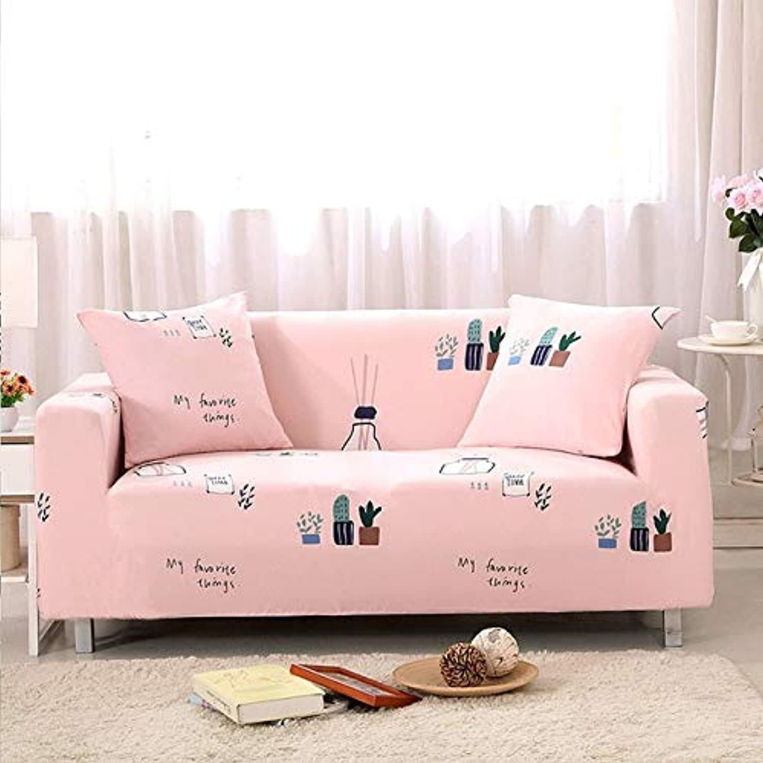 Farmerly 1pcs Flower Leaf Soft Stretch Sofa Cover Home Decor Spandex Furniture Covers Decoration Covering Hotel Slipcover 58001   H, Two seat