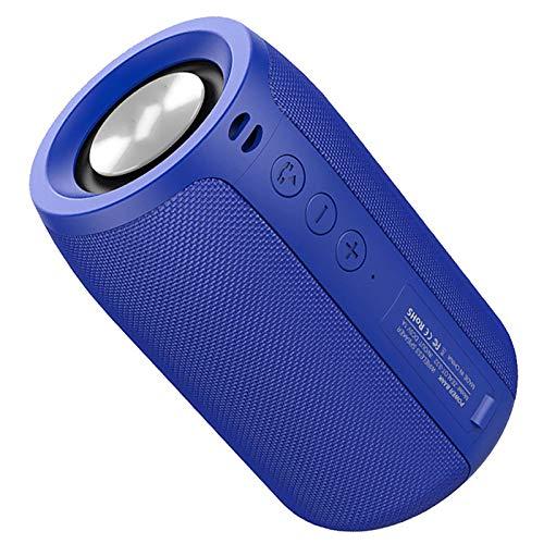 HRXS Altavoz portátil inalámbrico, Altavoz Bluetooth, Resistente al Agua, con Soporte de Radio FM TF, TWS, Unidad Flash USB,Azul