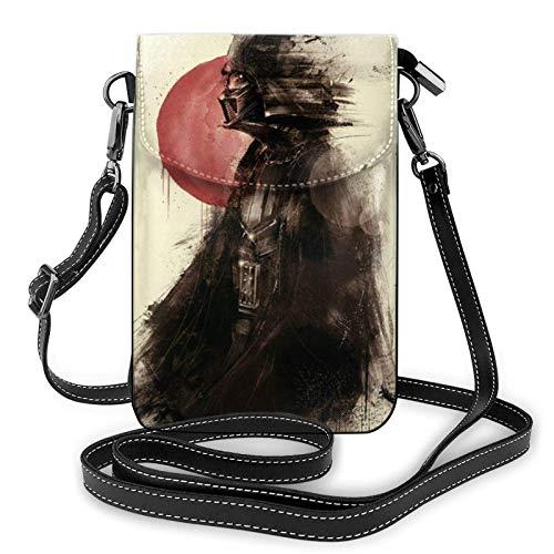 XCNGG Kleine Geldbörse Darth Vader Crossbody Bags for Women's Crossbody Handbags Cell Phone Purse Waterproof Leather Handbags Small Wallet