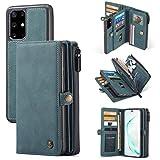 Galaxy S20 Plus Wallet Case, S20+ Detachable Cover, XRPow [2 in 1 Detachable Magnetic] [Vegan Leather] Folio Card Pocket Zipper Clutch Case (6.7Inch) Slim Shock Protection Removable Flip Cover - Blue
