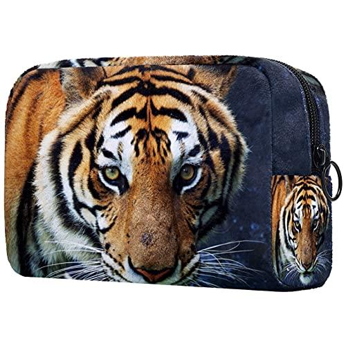 FURINKAZAN Animal Tiger Travel Bolsa de maquillaje para artículos de tocador, bolsa de maquillaje para hombres y mujeres