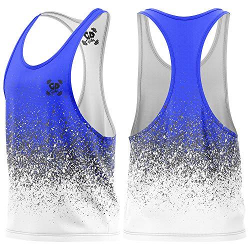 Get Down Gymwear Stringer Vest, kamizelka gimnastyczna dla mężczyzn, góra na siłownię, ubrania bez rękawów kulturystyka dopasowanie mięśni do biegania podkoszulek