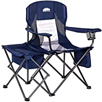 Coastrail Outdoor Folding Camping Chair with Cooler Side Table Bag
