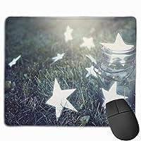 マウスパッド オフィス 最適 星柄 願い 瓶 芝生 ゲーミング 光学式マウス対応 防水性 耐久性 滑り止め 多機能 標準サイズ25cm×30cm