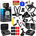 GoPro CHDHX-801 HERO8 Hero 8 Black All in 1 MEGA Accessory Bundle for All Occasions with 2X Extra Battery and Charger, Extreme 32GB, Head and Chest Strap, Dog Harness, Selfie Stick and Much More by Pixel Hub