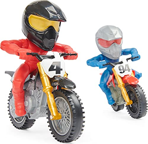 Supercross, Race and Wheelie Competition Set, Includes Ricky Carmichael and Ken Roczen Bikes and Deluxe Ramp, Kids Toys for Boys Aged 3 and Up