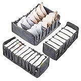 LEADSTAR Organizador Cajones, 3 PCS Separadores Cajones Organizador Ropa Interior, Organizadores de...