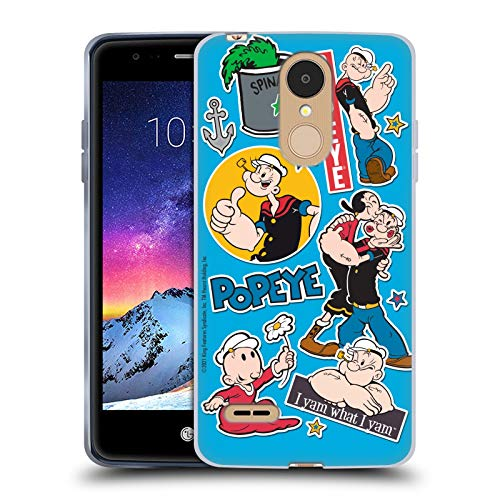 Head Case Designs Officially Licensed Popeye Family Collage Soft Gel Case Compatible with LG K8 / K9 (2018)