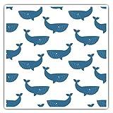 Impresionantes pegatinas cuadradas (juego de 2) 7,5 cm – bonito patrón de ballena océano mar natural calcomanías divertidas para portátiles, tabletas, equipaje, reserva de chatarras, neveras, regalo fresco #44811