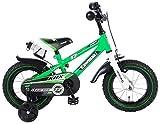 Kawasaki Bici Bicicletta Bambino 12 Pollici con Ruotine Rimovibili Verde 95% assemblata