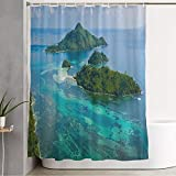 WELL-MADE MATERIAL: This high quality bathroom shower curtain is made of polyester fabric, which is water-proof and soft to the touch. FASHION STYLE: The shower curtain with vibrant color has modern design style and high definition. Decorate your bat...