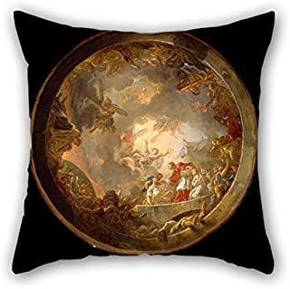 Oil Painting Jean-Simon Berthélemy - Saint Carlo Borromeo Attending To The Plague Victims Pillowcover 20 X 20 Inches / 50 By 50 Cm For Car,lounge,dinning Room,kids,bedroom,birthday With Two Sides