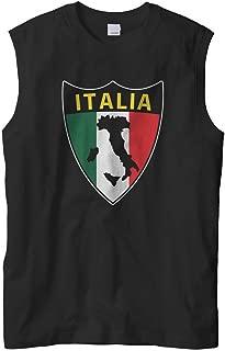 Cybertela Men's Italian Italy Italia Shield Flag Sleeveless T-Shirt