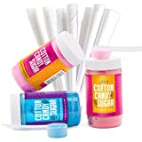 Best Sugar For Cotton Candy Machines - The Candery Cotton Candy Floss Sugar (3-Pack) Includes Review