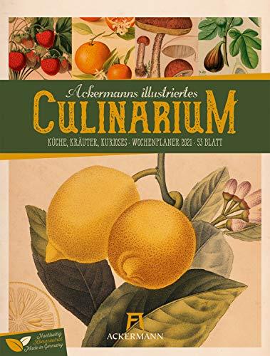 Culinarium - Wochenplaner Kalender 2021, Wandkalender im Hochformat (25x33 cm) - Botanische Illustrationen im Stil von Merian/Redouté, Wochenkalender