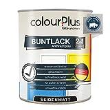 colourPlus 2in1 Buntlack (750ml, RAL 7016 Anthrazitgrau) seidenmatter Acryllack - Lack für Kinderspielzeug - Farbe für Holz - Holzfarbe Innen - Made in Germany